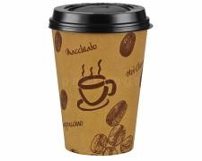 Kaffeebecher Premium Coffee to go mit Deckel, Pappe beschichtet 300 ml, 100 Stk.