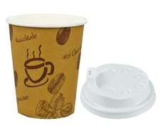 Kaffeebecher Premium Coffee to go mit Deckel, Pappe beschichtet 300 ml,  50 Stk.