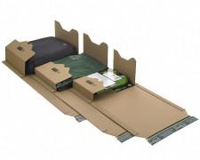 Universalverpackung PP B22.09 braun, 293x235x 1-35mm, für A4, SK-Verschluss