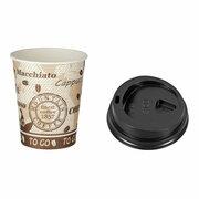 Kaffeebecher Premium mit Deckel, Coffee to go, Pappe, 300 ml hoch,  75 Stk.