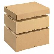 Stülpdeckelkarton aus Wellpappe braun, höhenverstellbar, 2-teilig, 305x215x100mm