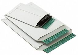 Vollpappe-Versandtasche PP V02.03, 235x308x -30mm, mit SK-Verschluss, A4, weiß
