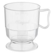 Royal Cup Henkeltasse Kaffeetasse 0,2l | 200ml glasklar transparent, 12 Stk.
