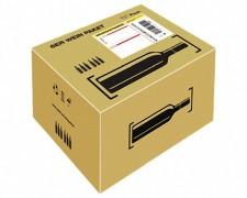 Post Prepaid Weinpaket für  6 Flaschen Wein Most, Säfte, Flaschenhöhe max 355mm