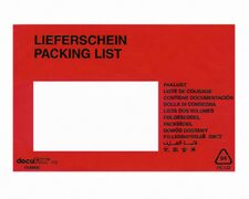 DOCUFIX Dokumententaschen *Lieferschein*,  C6 175x115+20mm,  250 Stk.