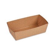 BIONATURE Snackschale braun Fettbarriere Recycling 13,5x7x4,5cm 300 ml 250 Stk.