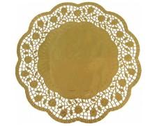 Deko-Tortenspitzen rund gold Ø 36 cm, 4 Stk.