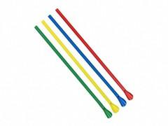 Löffel-Trinkhalme, farbig bunt gemischt, 240 mm Ø 6 mm, 250 Stk.