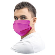 Mundschutz Mundmaske 18 x 9,5 cm aus Airlaid stoffähnlich fuchsia, 20 Stk.