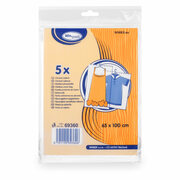 Kleiderschutzhüllen Kleidersäcke 65 x 100 cm transparent, 5 Stk.
