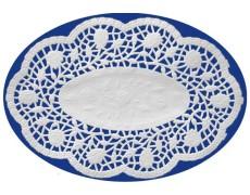Deko-Spitzen oval, Mokkadeckchen, weiß, 22 x 15 cm, 500 Stk.