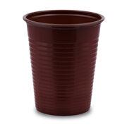 Trinkbecher Partybecher braun 180 ml, aus PS, Ø 70 mm, 50 Stk.