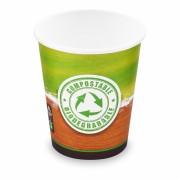 BIO Kartonbecher Kaffeebecher CoffeeToGo Kompostierbar 200ml 280ml, 50 Stk.