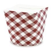 Papier Food-Box Take Away Box, beschichtet KARO 26oz, 750ml, 50 Stk.