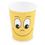 Heiß- und Kaltgetränkebecher Pappbecher Smiling face 200ml 280ml, 50 Stk.
