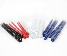 Plastikbinderücken  6mm, bis max. 25 Blatt, Schwarz, 25 Stk.