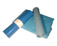 LDPE-Müllsäcke 120 L, 700 x 1100 mm, Typ 60 = 28 my Regenerat blau, 250 Stk.