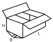 Faltkarton  800x250x150mm 1wellig DICKWELLE