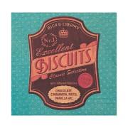 Motivservietten 3-lagig, 33 x 33 cm, Biscuits, blau, 20 Stk.