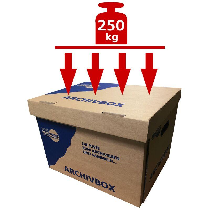 archivbox lagerbox 400x320x290mm extrem stabil bis 250kg stapelbar. Black Bedroom Furniture Sets. Home Design Ideas