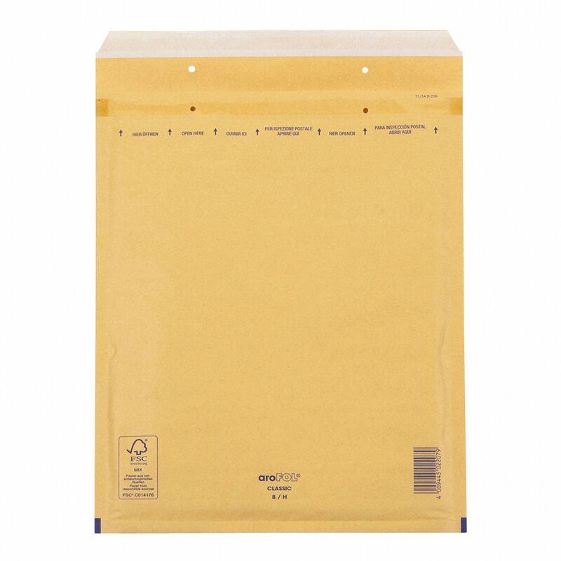 AROFOL CLASSIC Luftpolstertasche  8/H-18, 270x360mm, für B4, braun