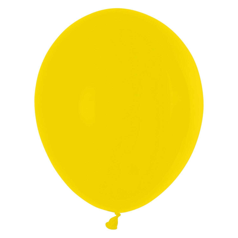 Luftballons gelb Ø 250 mm, Größe M, 100 Stk.