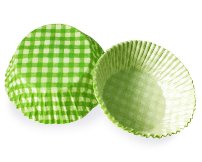 Muffinkapseln Gebäckkapseln KARO grün Ø 50 x 30 mm, 40 Stk.