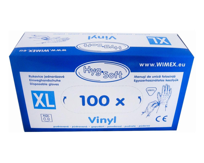 Vinyl Einweghandschuhe Vinylhandschuhe gepudert Größe XL, 100 Stk.