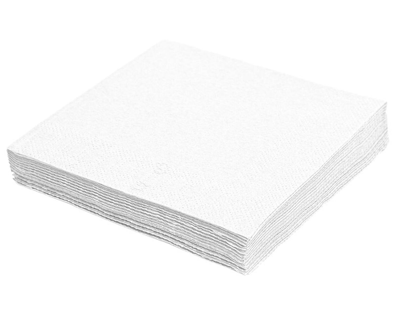 Servietten 40 x 40cm 1/4 -Falz, 2-lagig weiß,  50 Stk.