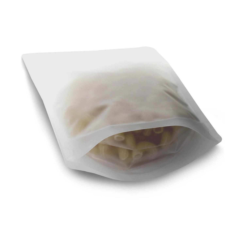 Standbodenbeutel transparent frozen matt 110 x 185 x 65mm, 250ml, 1000 Stk.