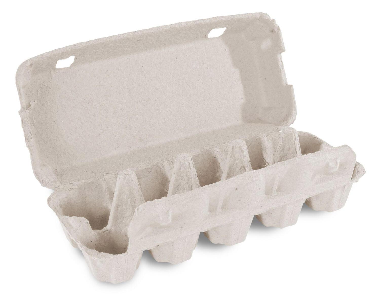 Eierverpackung für 10 Eier weiß mit Aufdruck 10 frische Eier, 154 Stk.