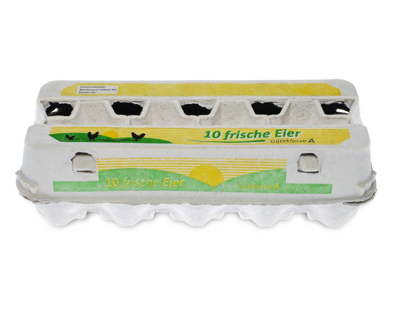 Eierverpackung für 10 Eier weiß mit Sichtfenster, 190 Stk.