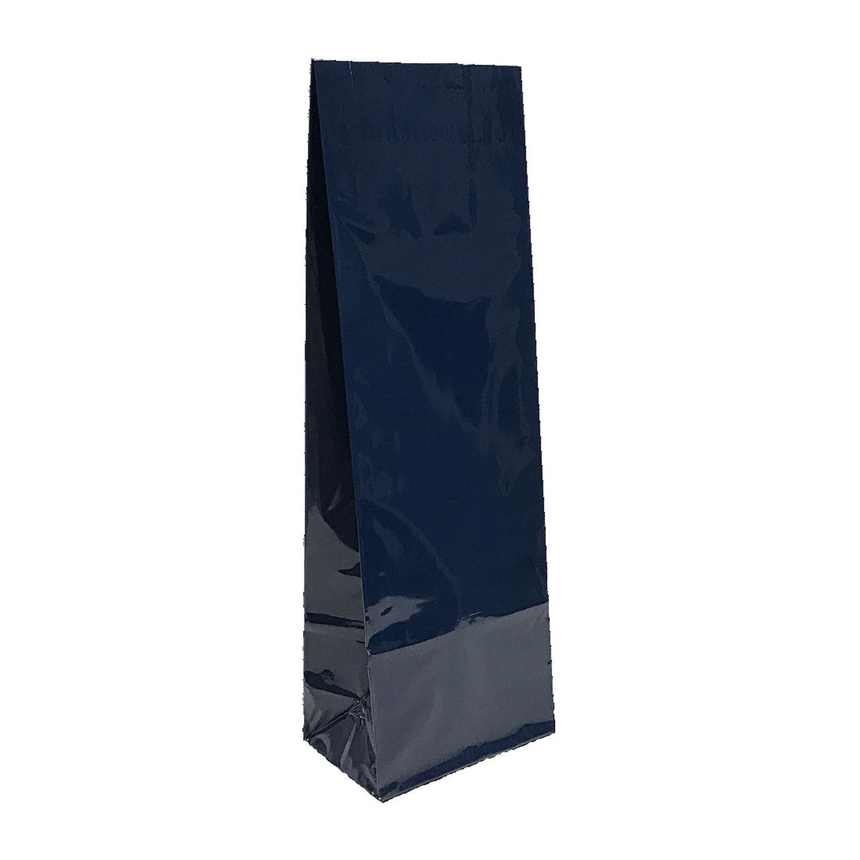 Blockbodenbeutel 3-lagig, Blau,  80 + 50mm x 250mm, 500 Stk.