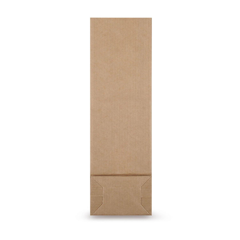 Blockbodenbeutel Kraftpapier braun mit Sichtfenster  55 + 30 x 175mm, 1000 Stk.