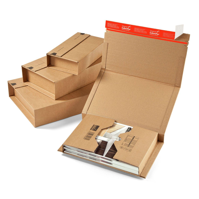 Universalverpackung CP020.06 MUWE 356, 270x190mm Höhe 1-80mm, für B5, braun