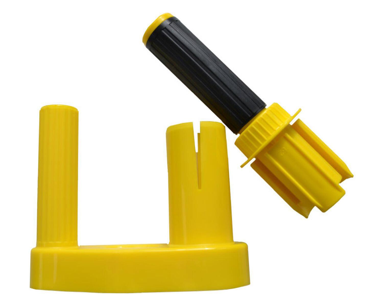 Abroller-Griffset für Handwickelfolie Stretchfolie, Kunststoff, farbl. sortiert