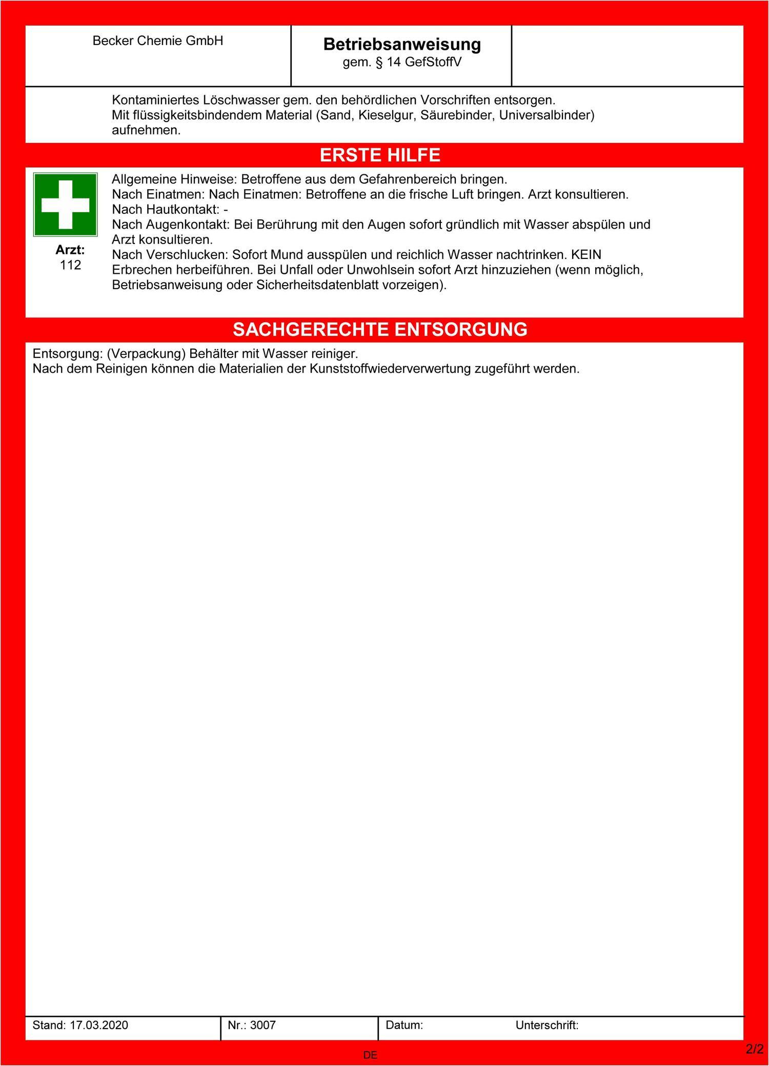 Skintastic Leocid P7 Händedesinfektion 1000 ml in 1 Liter Euronorm Flasche