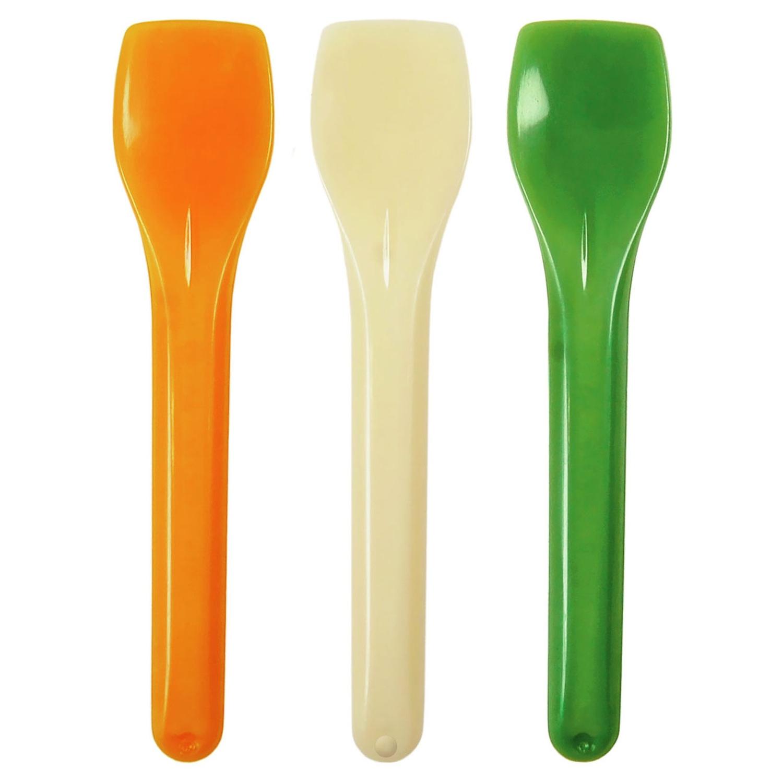 BIO Eislöffel aus Mais-Biokunststoff (PLA) bunt 9.5cm, 100 Stk.
