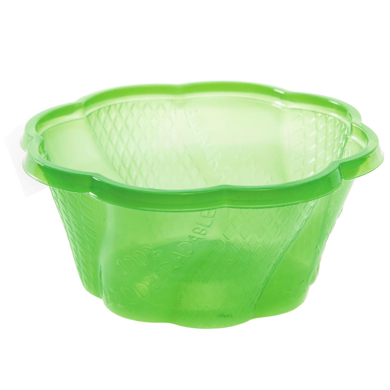 BIO Eisbecher aus Mais-Biokunststoff (PLA), grün, 210ml, 50 Stk.