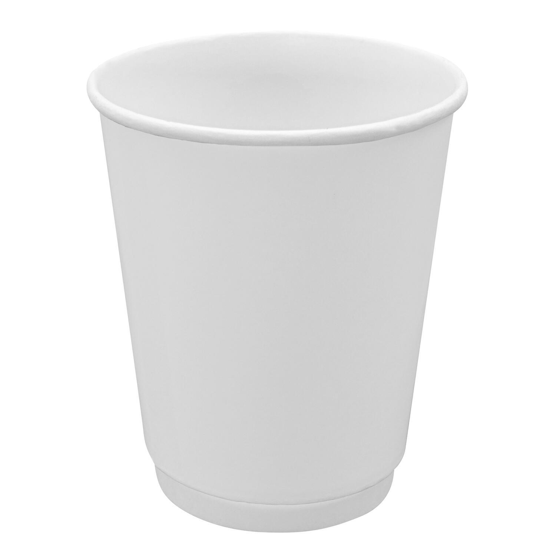 Doppelwandbecher für Heiß- und Kaltgetränkebecher weiß 200 ml 250 ml, 20 Stk.