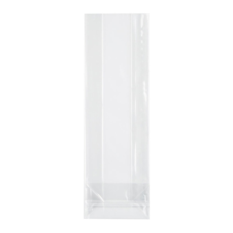 Blockbodenbeutel mit Siegelnaht, transparent  80 + 40mm x 240mm 50my, 1000 Stk.
