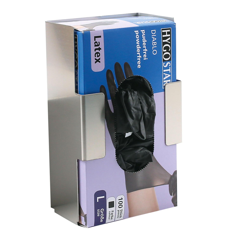 Spenderhalter für Einweghandschuhe Edelstahl für Packungsgröße 21x12.5x7.5cm