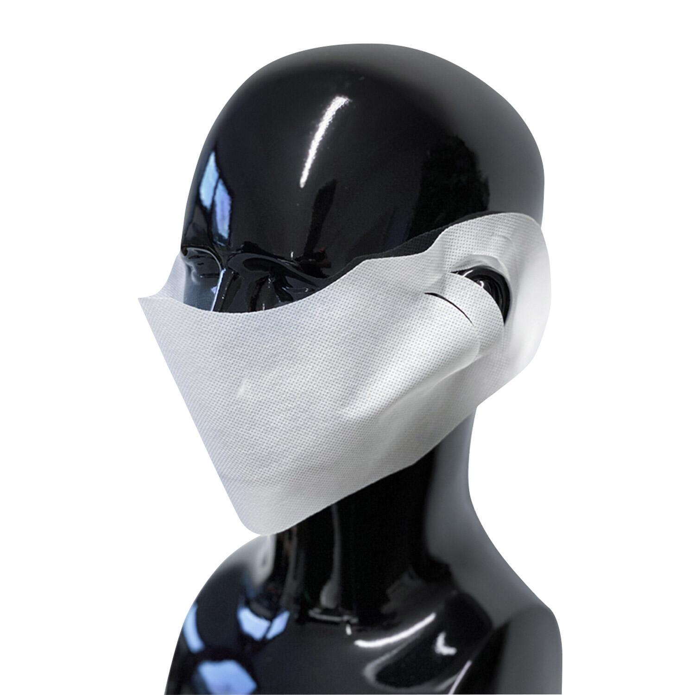 Einweg Mundmaske Nasenmaske Mundschutz Behelfs-Spuckschutz Vlies weiß 100 Stk.