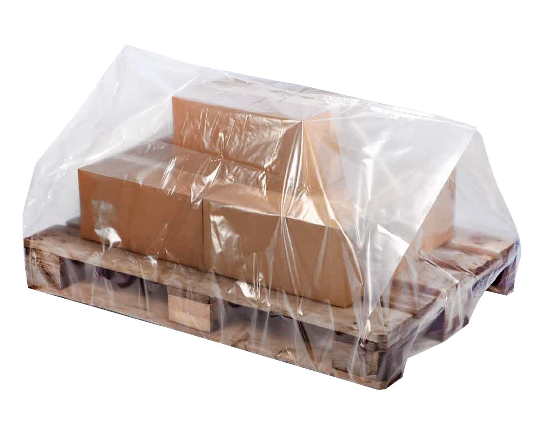 Palettenhaube aus Recyclat 1250 x 950 x 2100mm transparent trüb, 50my, 25 Stk.