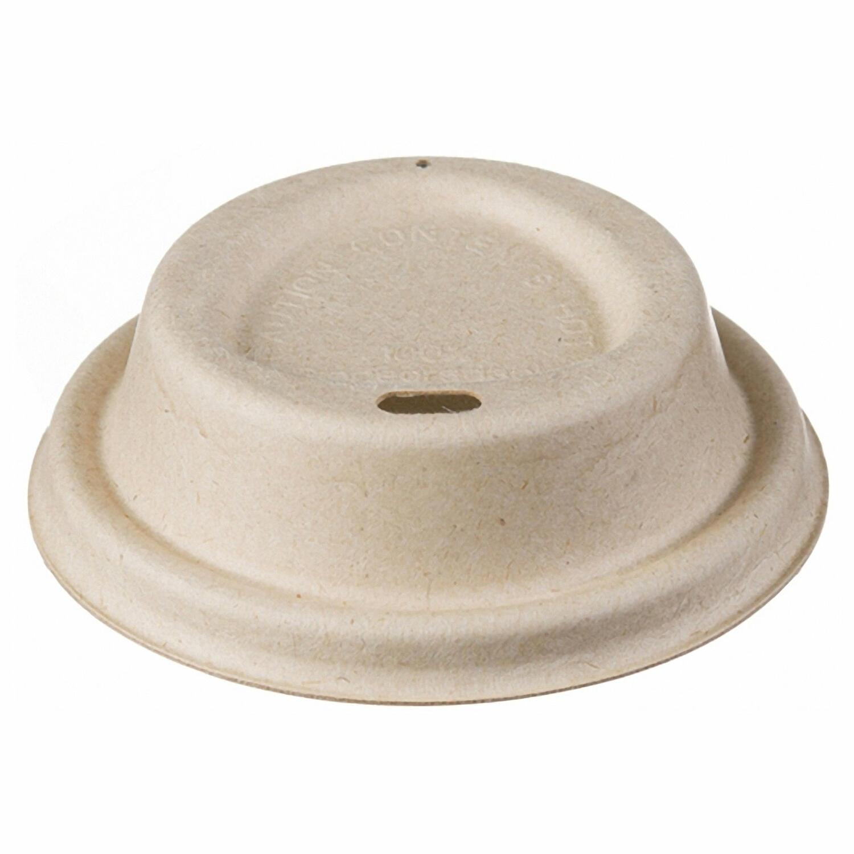 Deckel für Coffee-TO-GO Pappbecher aus Zuckerrohr Motiv Triangle Ø 80mm, 50 Stk.