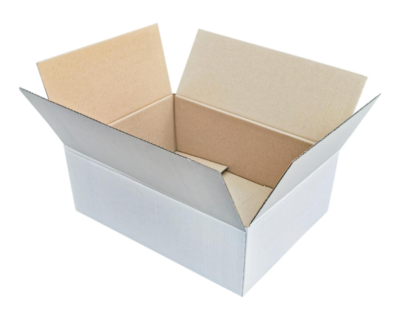 Verpackungs- und Versandkarton 395x295x140mm, 1-wellig, weiß