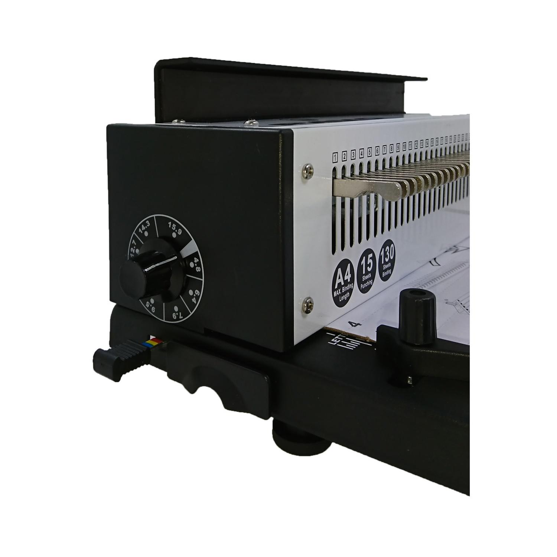 PAVO HD Wire Binder, Profi Round Punch Stanz und Drahtbindegerät, bis 130 Blatt