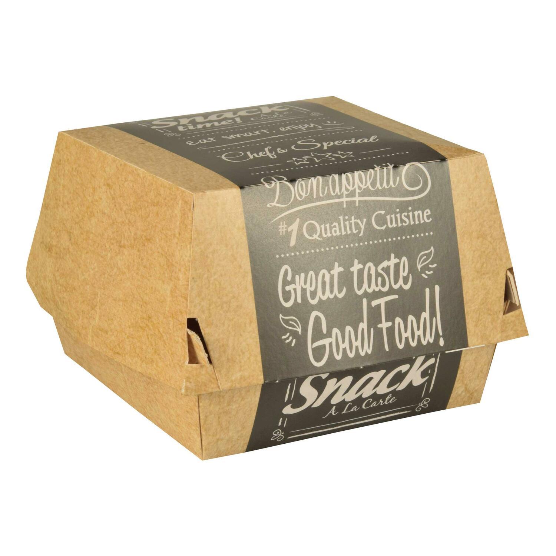 Burgerboxen aus Pappe FSC pure 8 x 8 cm Good Food mini, 50 Stk.