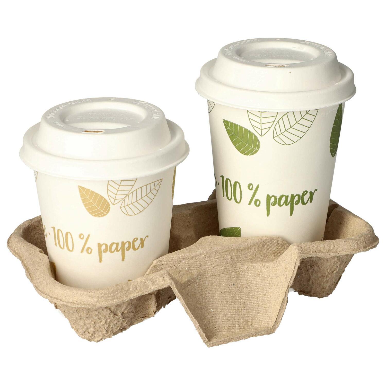 Getränkehalter Tragetablett Becherhalter für 2 Becher 19,3 x 10,8cm 150 Stk.