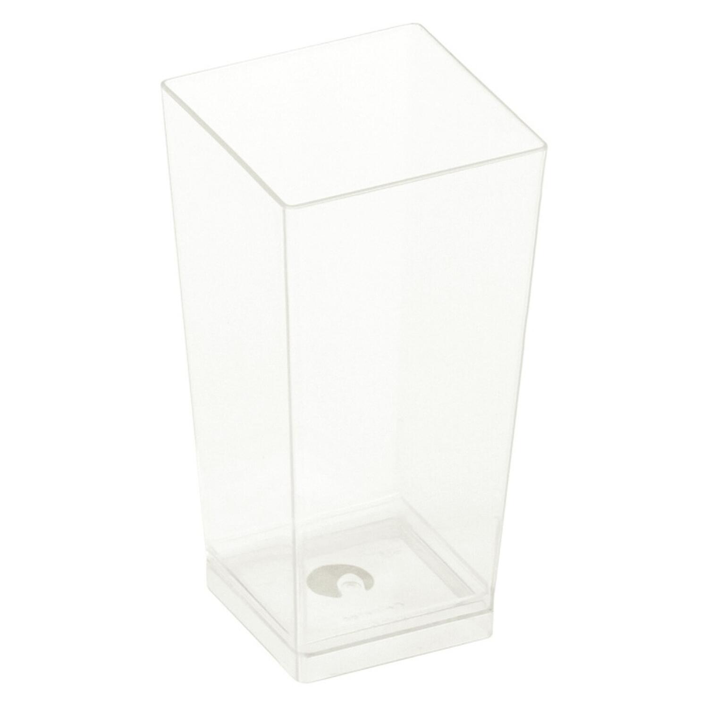 BIO Kova Feinkostbecher glasklar 100ml 4x4x8,2cm Bio-Kunststoff(PLA) 25 Stk.